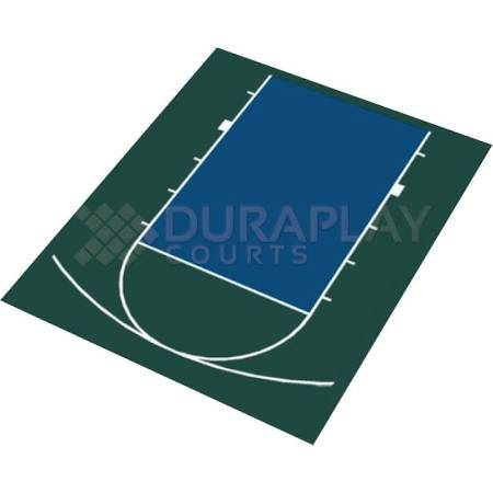 DuraPlay Half Court Basketball Kit 1H
