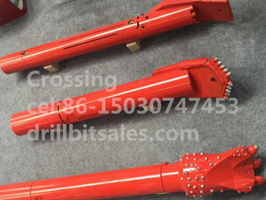 Crossing Sonde Housing with Drill Bit