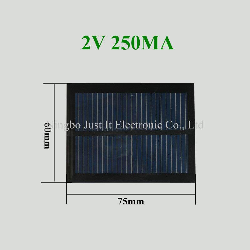2V 250mA 0.5W 75x60mm Mini Epoxy Solar Cell