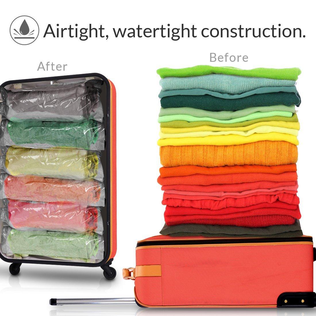 Travel roll type vacuum storage bag