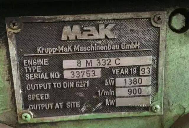 Marine diesel engine set MAK 8M332C