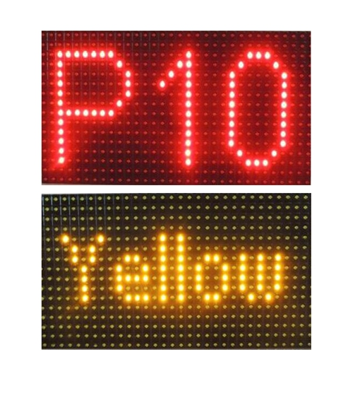 alibaba red green yellow red P10 Single Color Led Module sign panel /P12.5 P16 32x16 P10 full color