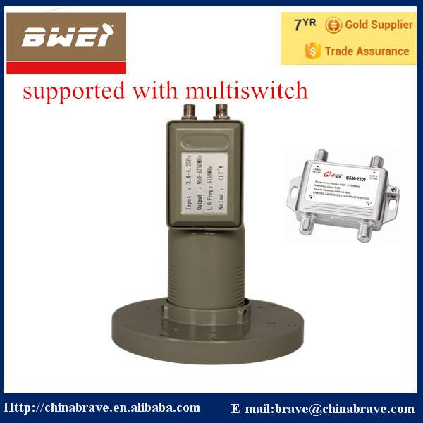 Vertical & Horizontal Seperated C Band LNB with Multiswitch