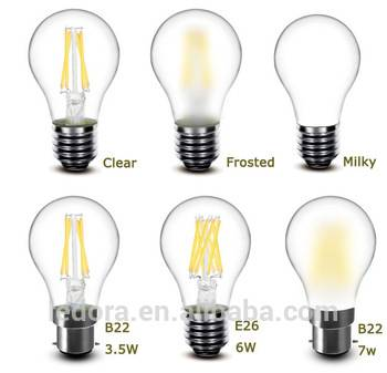 A19 UL E26 E27 2700K vintage LED light Dimmable A60 LED Filament bulb