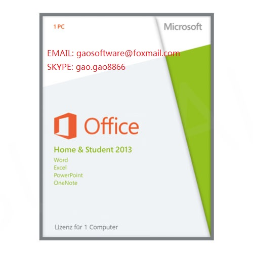 office 2013 home and student pkc key cards 100% online activation