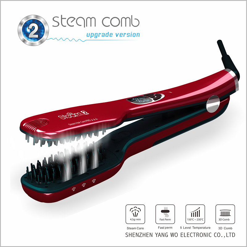 Hair tools steam hair straightener brush in new design