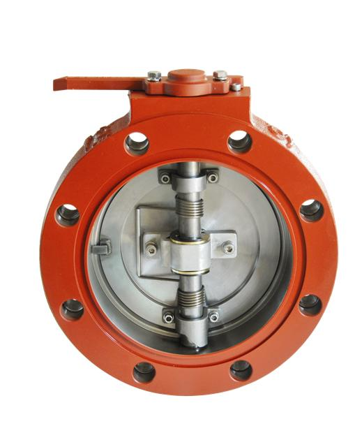 """Transformer oil shut off valve 6""""- Round(wafer)"""