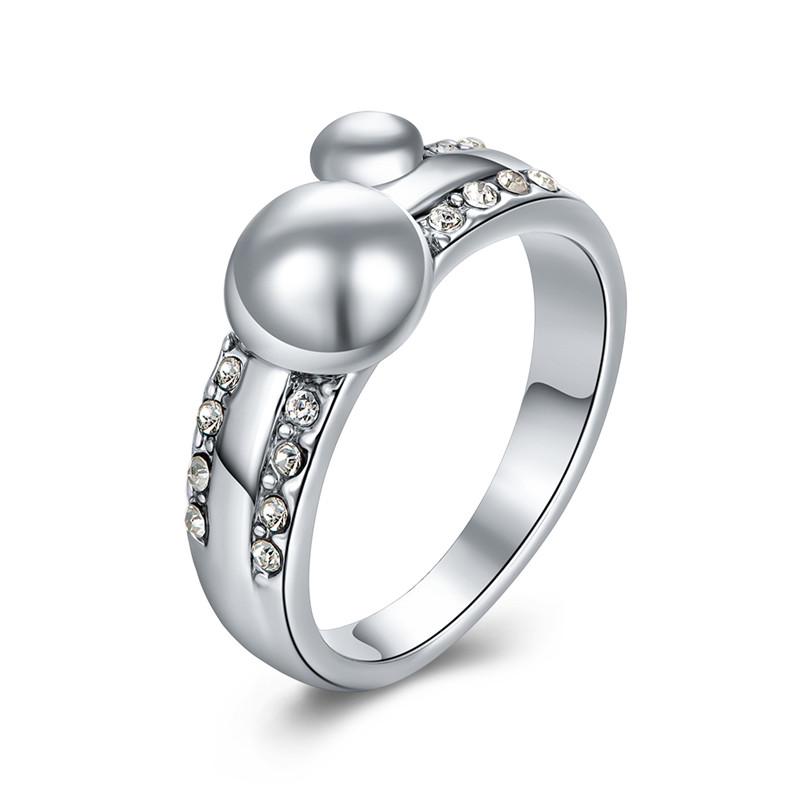 Popular Products Platinum Plated Unisex Alloy Ring 8#
