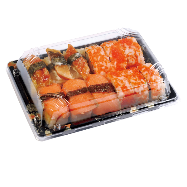 Disposable Sushi Tray with Lid Food contianer