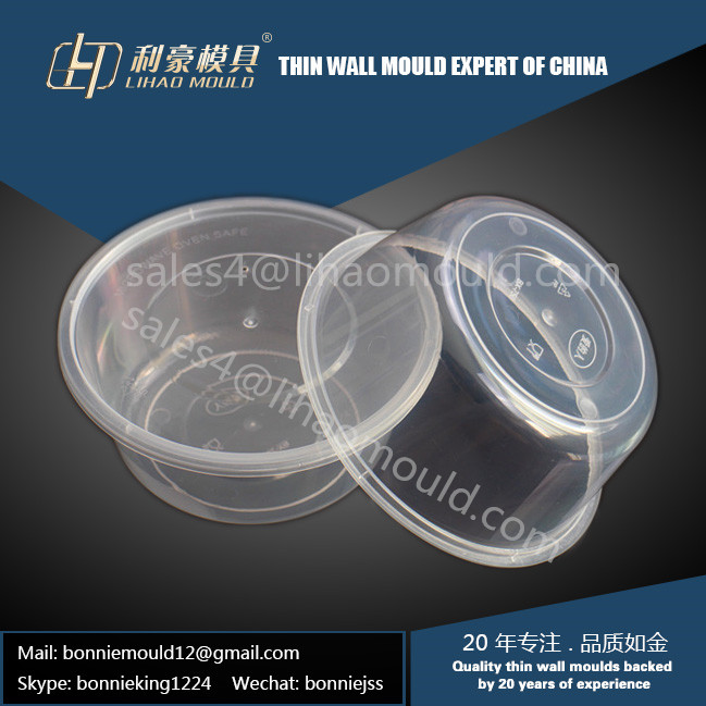 PP 750ml disposable round thin wall box mould exported
