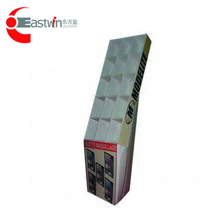 Professional Customized display shelf/cosmetic corrugated cardboard unit rack/paper shelf flooring s