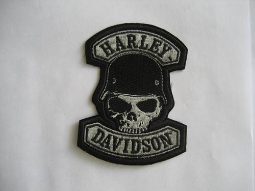 Skull Embroidery Patches Mortorcyle Badge
