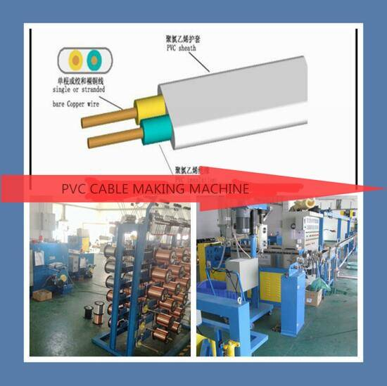2 cores electrical cable extruder production line