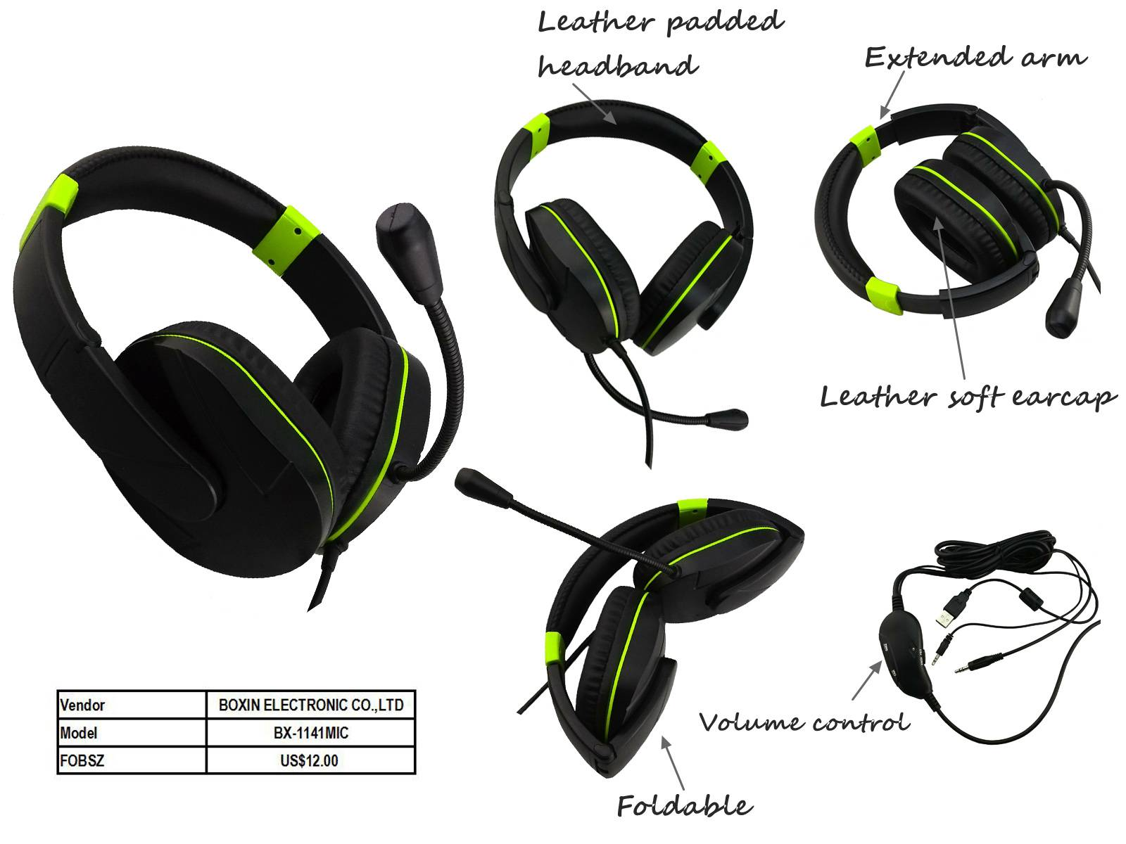 Stereo Gaming headphone new foldable
