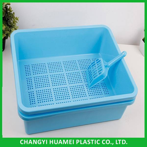 Plastic sieve litter tray/sifting litter tray