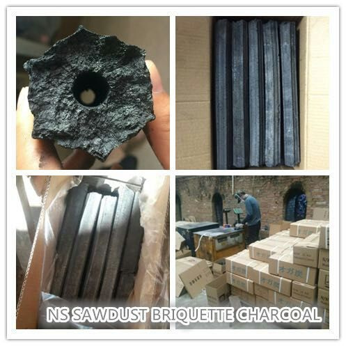 Hexagonal/Square Mechine-made Hardwood Sawdust Briquette Charcoal for BBQ