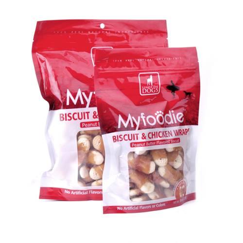 Myfoodie Gourmet Treats All Natural Biscuit Chicken Wraps Dog Chews 8oz