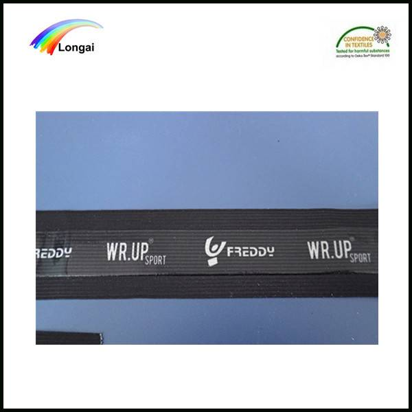 factory wholesale custom printed polyester woven silicone webbing