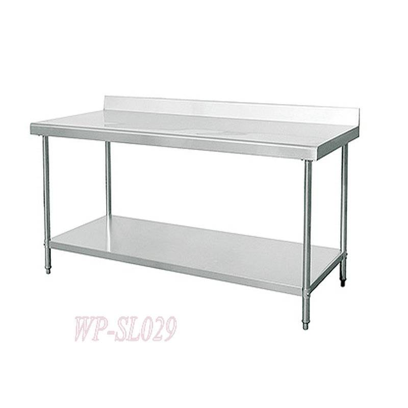 Stainless Steel Commercial Kitchen Working &Preparing Table with Under Shelf
