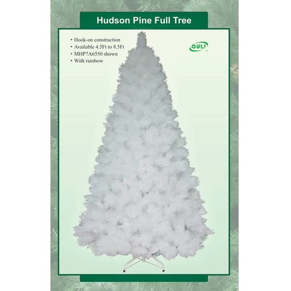 White Artificial Christmas trees with rainbow