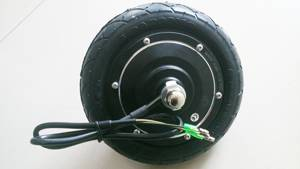 8 inch brushless gearless hub motor scooter motor