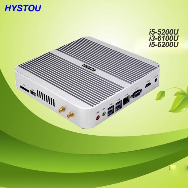 i3 6100u Intel HD520 graphics mini pc 6th generation cpu HTPC mini computer