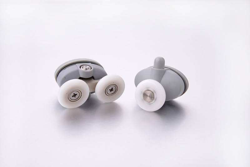 Plastic shower door ball bearing single shower roller