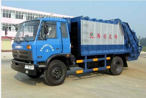 3ton capacity compactor garbage truck