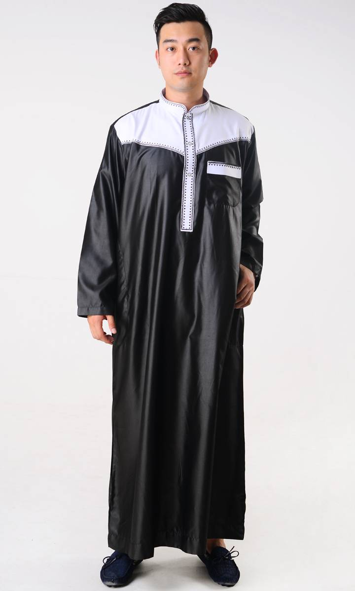 Arabian Robe for Men Contrast Color
