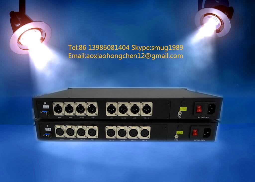 8CH fiber optic audio to XLR balanced converter for 8CH unidirectional balanced audio over fiber wit