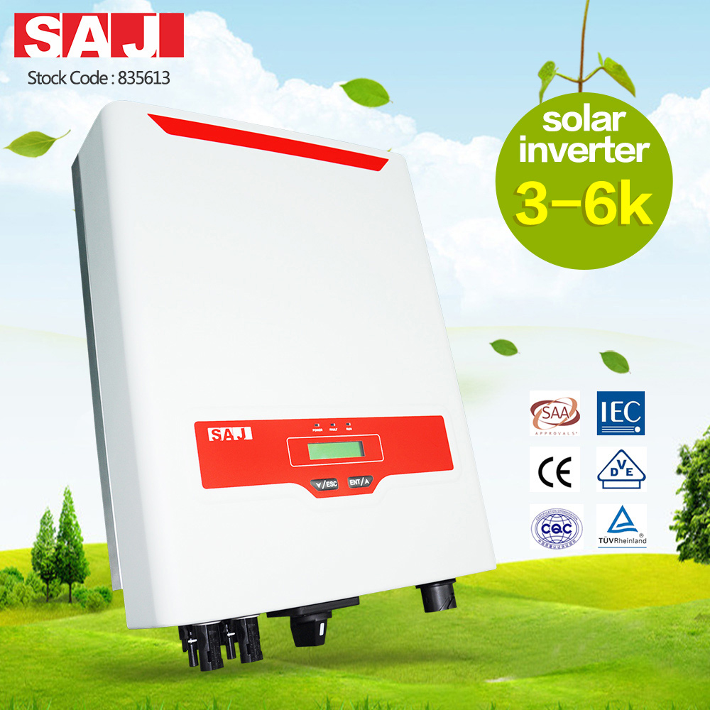 SAJ on-grid solar inverter of 2 MPPT for solar rooftops with IP65 5K-M