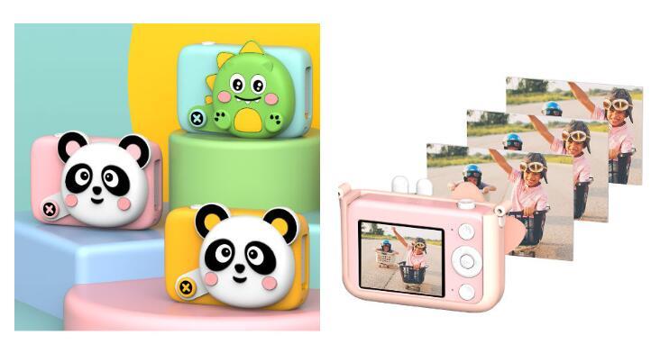 Christmas Gift Toy 2.4 Inch Cartoon Kids Camera Selfie 3200W Pixels Camera