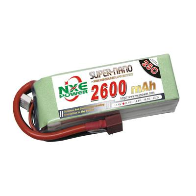 NXE2600mAh-25C-11.1V Softcase RC Helicopter Battery