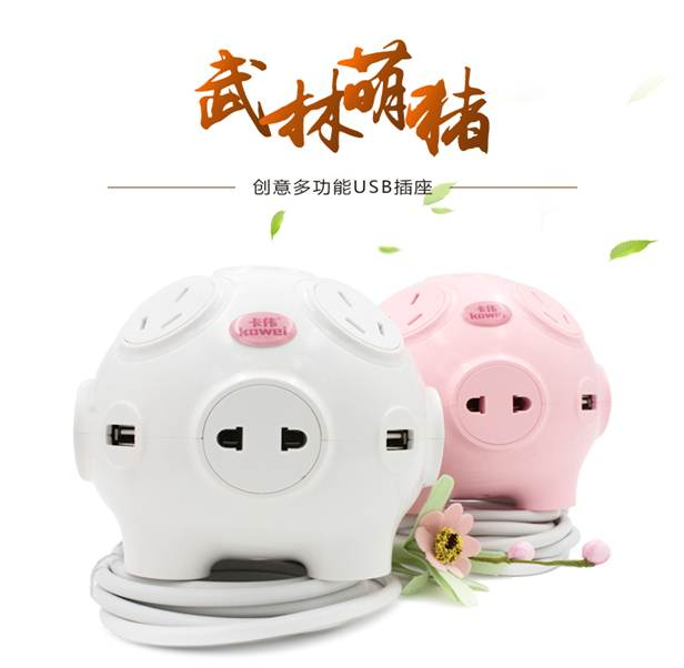 Cute piggy creative socket