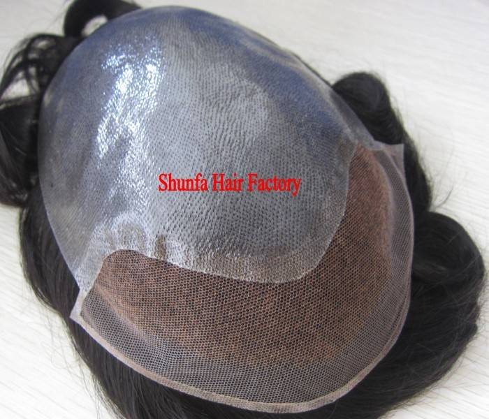 100% Indian Remy hair /BIO Base Toupee
