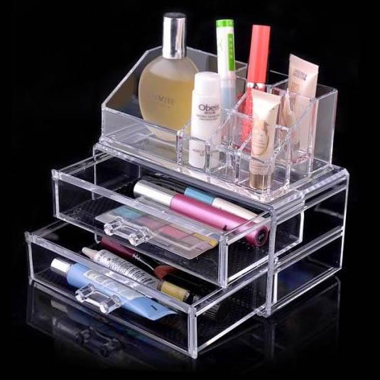 Transparent women PS makeup organizer