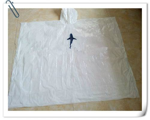 Disposable White PE Poncho