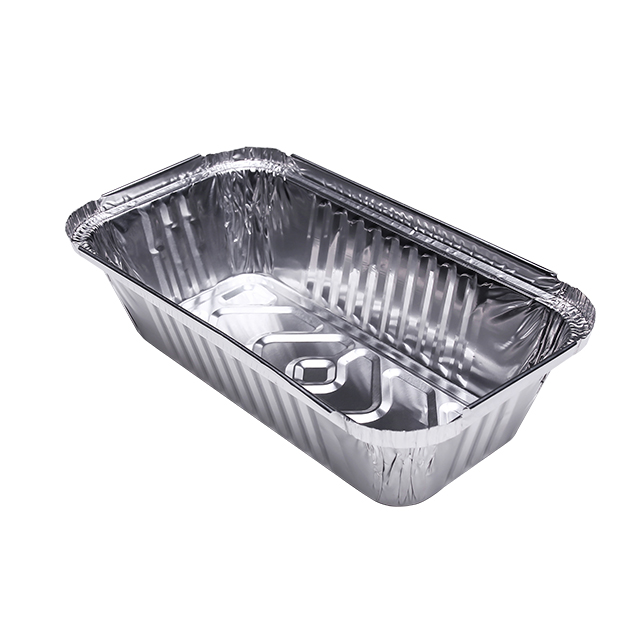 Food grade bakery trays disposable takeaway rectangle aluminum foil container for food pack
