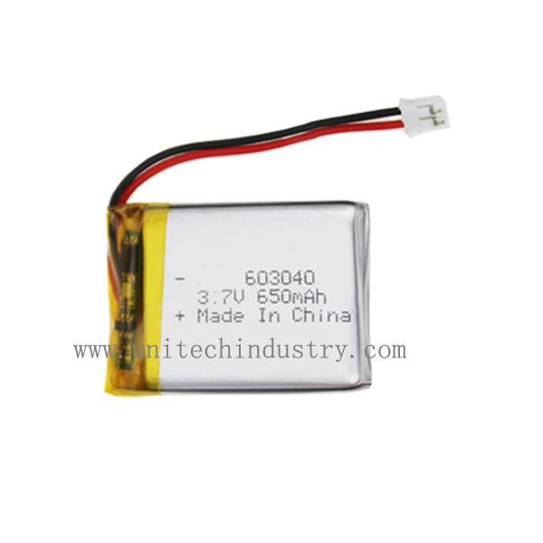 China good manufacturer Li-polymer battery 603040 3.7V 650mAh