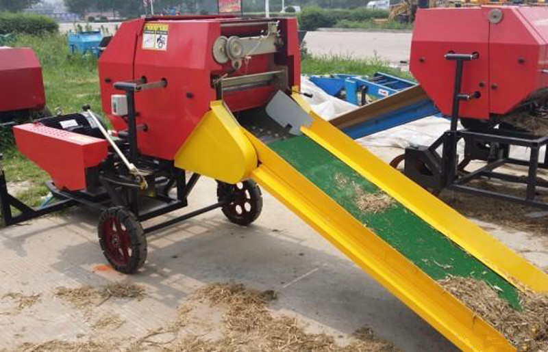 Fully automatic corn straw silage round baler