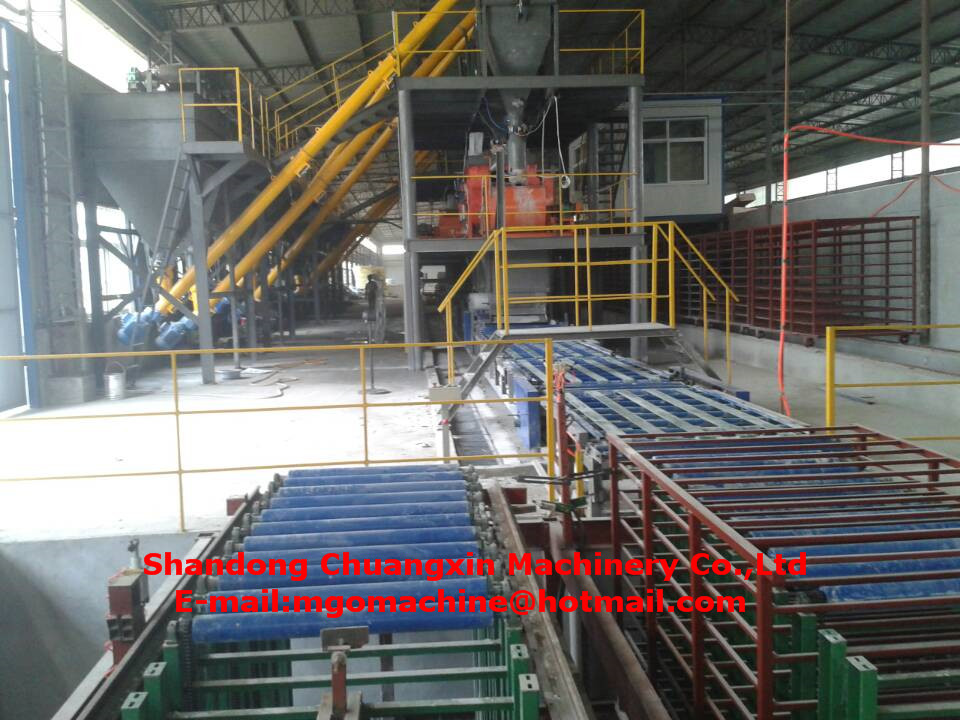 fully automatic mgo construction production making machine for fireproof mgo board