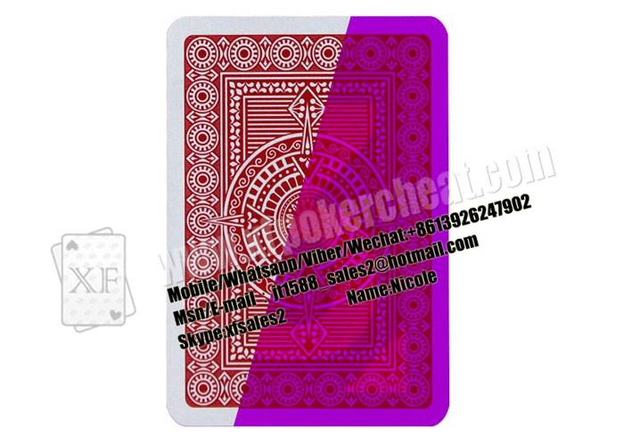 Gambling Italian Modiano Platinum Poker Acetate Jumbo Plastic Marked Playing Cards