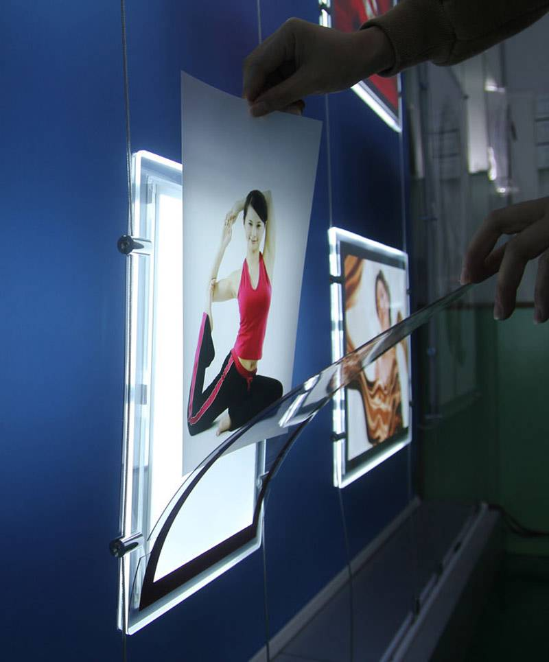 A4 Window Display LED Acrylic Frame Light Boxes
