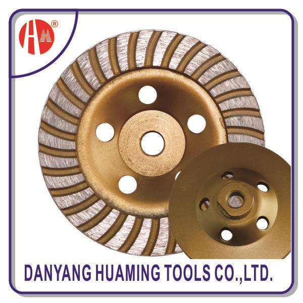 diamond continuous turbo cup grinding wheel