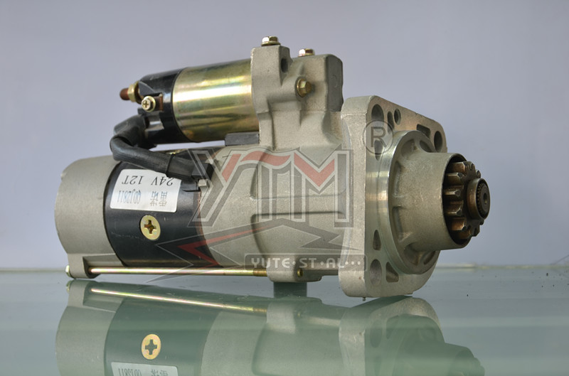 YTM 24V 11T 8KW QDJ2811T high quality tractor starter parts for WD615