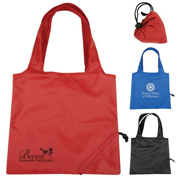 210D Polyester Foldable Tote Bags Shopping Bags Promotion Bags/Sacchetto/Sac De Courses/Einkaufstasc