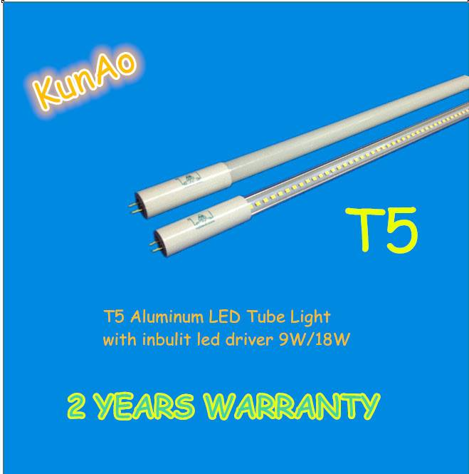 T5 LED tube with inbuilt driver 9W,18W