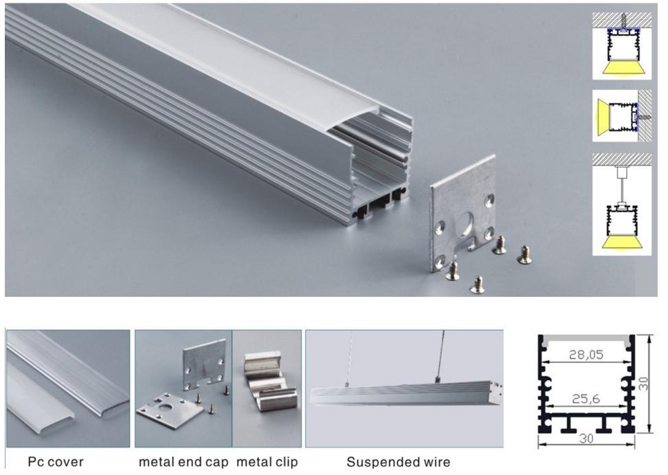 2017 New Bendable Anodized Aluminum LED Profile For LED Strips / LED Profile