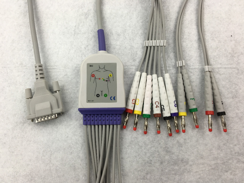 SCHILLER One-piece 10ld ecg cable
