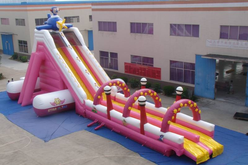 Lanqu commercial water slide
